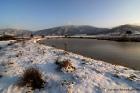 Τοπίο απλό λίμνη στη Συκαμινέα Ολύμπου